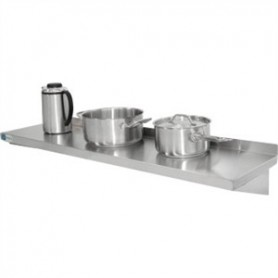 Etagère Murale Inox Simple sur Console Lg 1800 mm