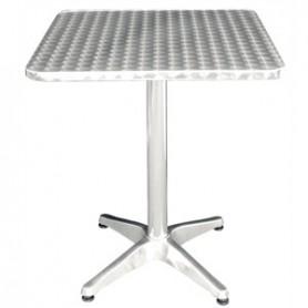 TABLE alu bistro carrée 60