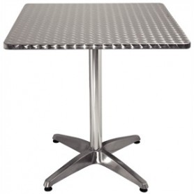 TABLE alu bistro carrée 70
