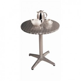 TABLE alu bistro RONDE 80