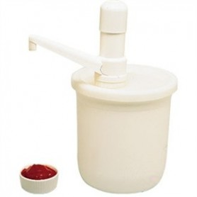 Pot à sauce avec pompe.