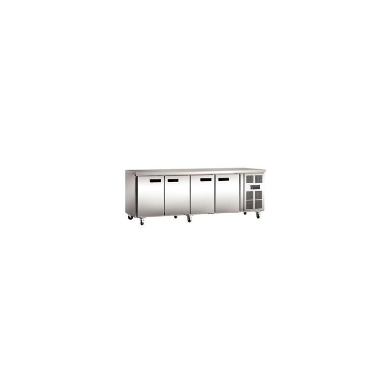 Réfrigérateur de comptoir professionnel 4 portes