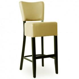 Chaise de bar en bois rembourree