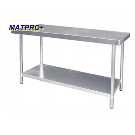TABLE INOX sans dosseret profondeur 600