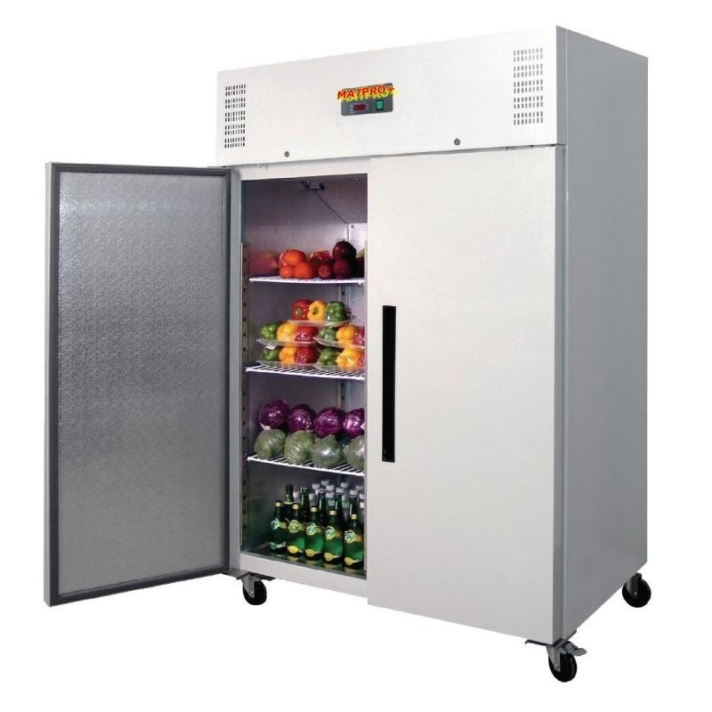 Réfrigérateur double porte Blanc. capacité : 1200 litres.