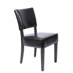 Chaises confortables en simili cuir