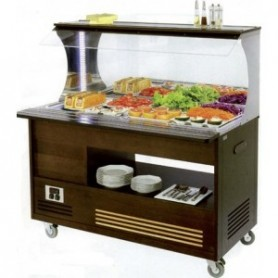 BUFFET SALAD' BAR MURAL - Mixte - 4 Bacs