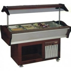 BUFFET MIXTE CENTRAL MOBILE Froid & chaud - 6 bacs