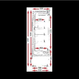 ARMOIRE OUVERTE RÉFRIGÉRÉE COMPACT TOUT INOX CRONUS 1.5