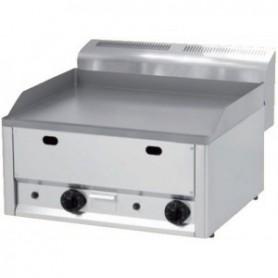 Plaque à snacker / grill double - gaz version top - Plaque acier lisse