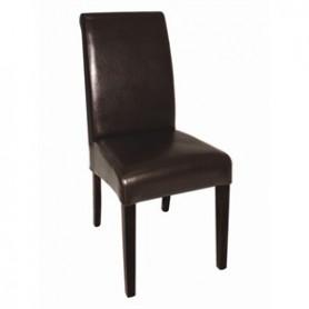 chaises cuir simili dos incurvè