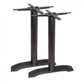 Double Pieds de tables fonte pour plateau rectangulaire
